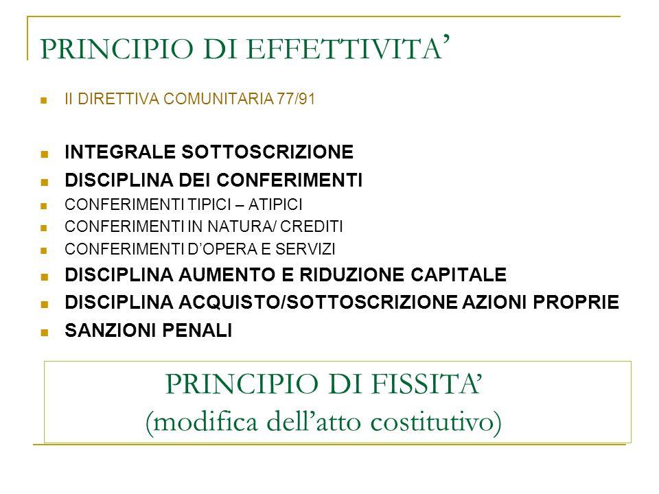 TERMINE PER OPZIONE / SOTTOSCRIZIONE DEROGHE DELEGABILE AL C.D.A PROROGA VERIFICA PERFEZIONAMENTO AUMENTO (30 gg.) INSCINDIBILITA DELLAUMENTO DEL CAPITALE CONDIZIONE DI EFFICACIA DELLA SOTTOSCRIZIONE DEROGABILE (esercizio dei diritto sociali - salvo morosità) EMISSIONE AZIONI (azioni di risparmio) TERMINE PER SOTTOSCRIZIONE