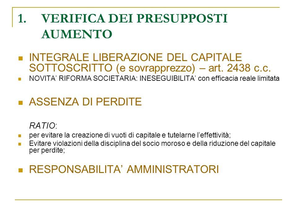 2.COMPETENZA ASSEMBLEARE DELEGA AL C.D.A. (art. 2443 - 2420-ter c.c.