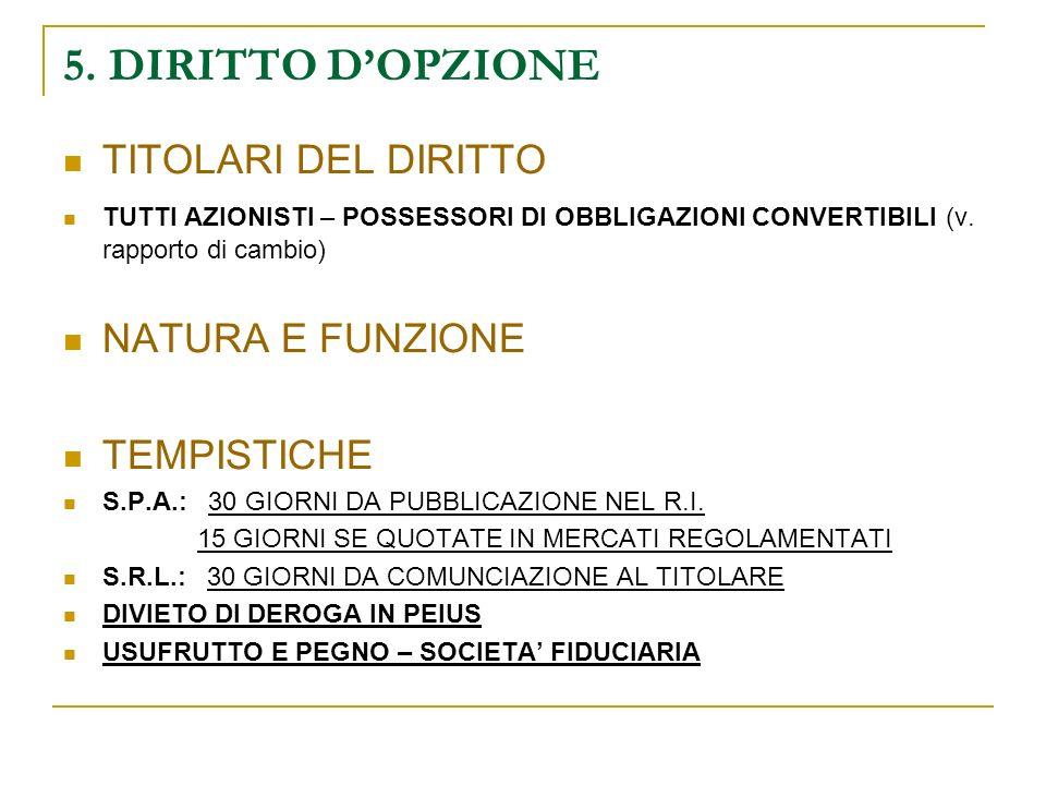 SOLUZIONI IN CASO DI MANCATA RICAPITALIZZAZIONE TRASFORMAZIONE IN S.R.L.