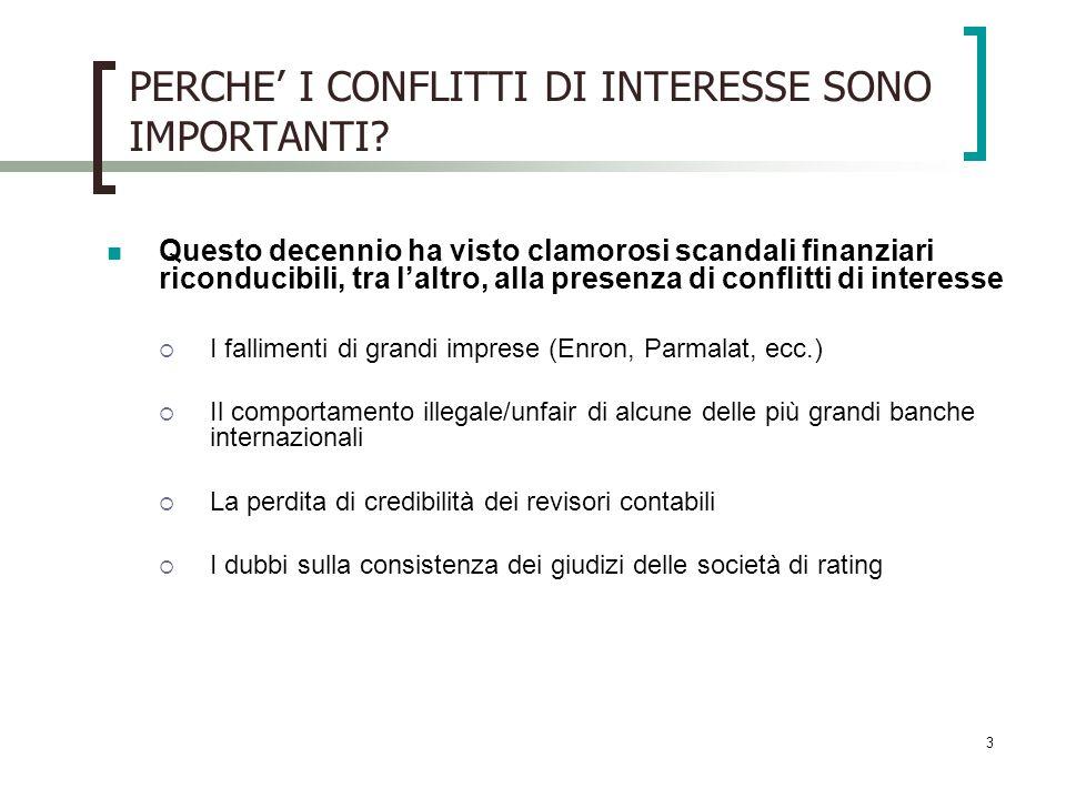 4 PERCHE I CONFLITTI DI INTERESSE SONO IMPORTANTI.