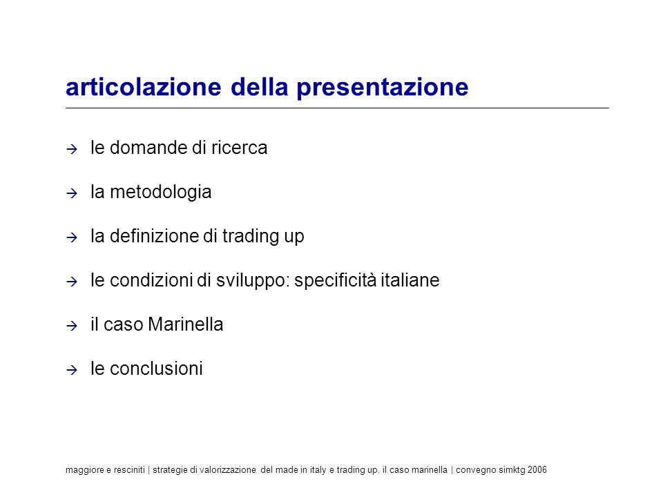 maggiore e resciniti | strategie di valorizzazione del made in italy e trading up. il caso marinella | convegno simktg 2006 articolazione della presen