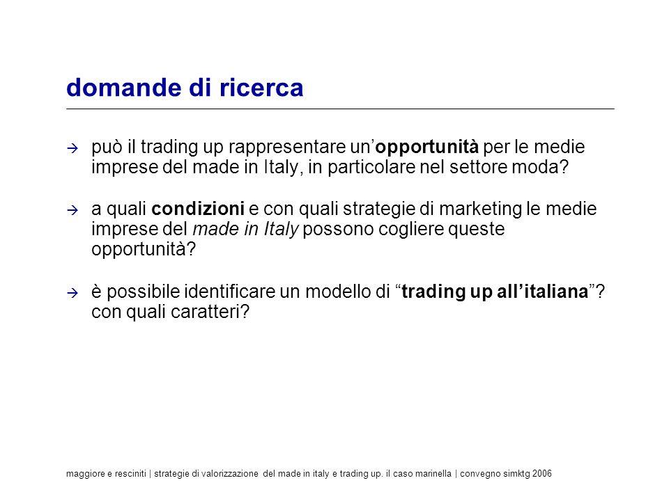 maggiore e resciniti | strategie di valorizzazione del made in italy e trading up. il caso marinella | convegno simktg 2006 domande di ricerca può il