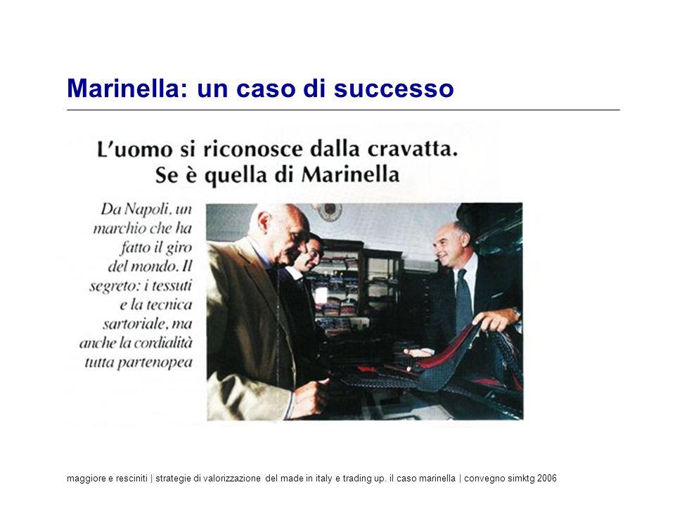maggiore e resciniti | strategie di valorizzazione del made in italy e trading up. il caso marinella | convegno simktg 2006 Marinella: un caso di succ