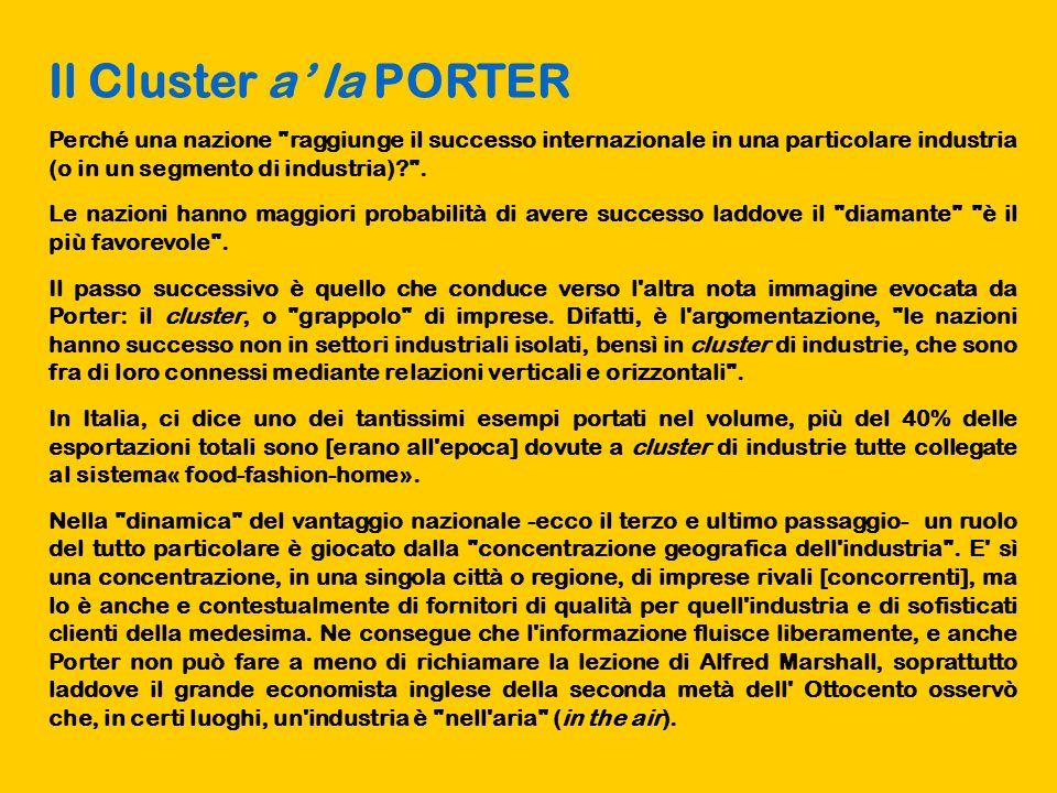 Il Cluster a la PORTER Perché una nazione
