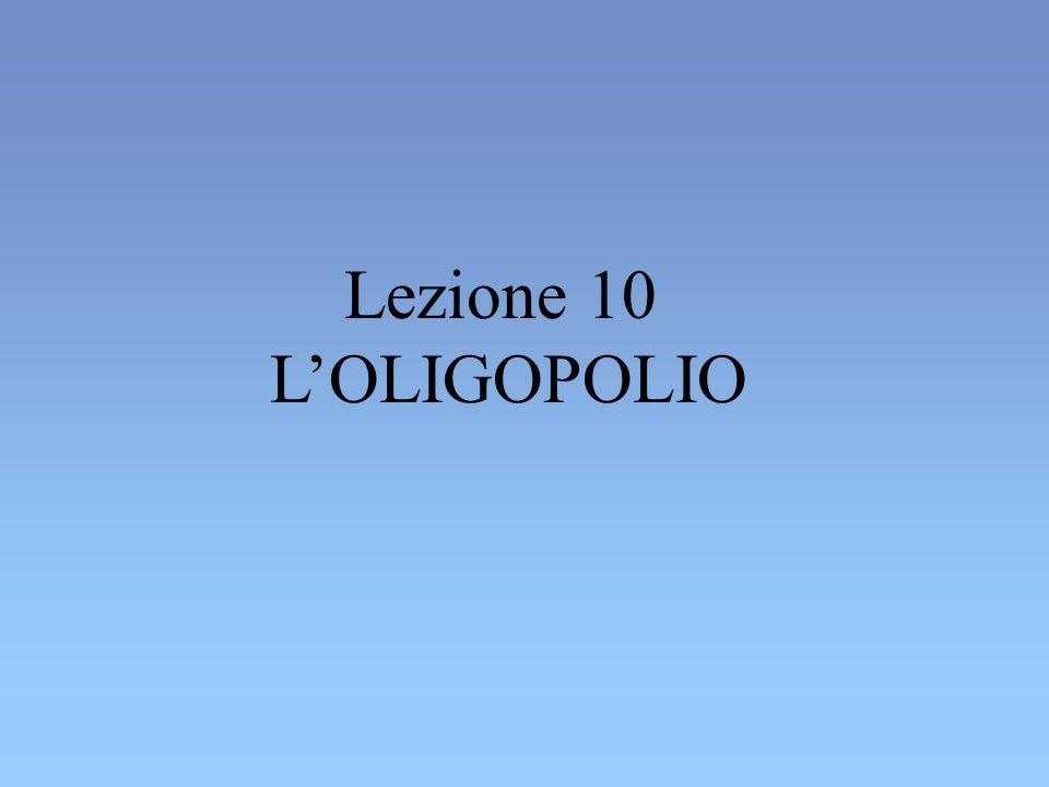 Lezione 10 LOLIGOPOLIO