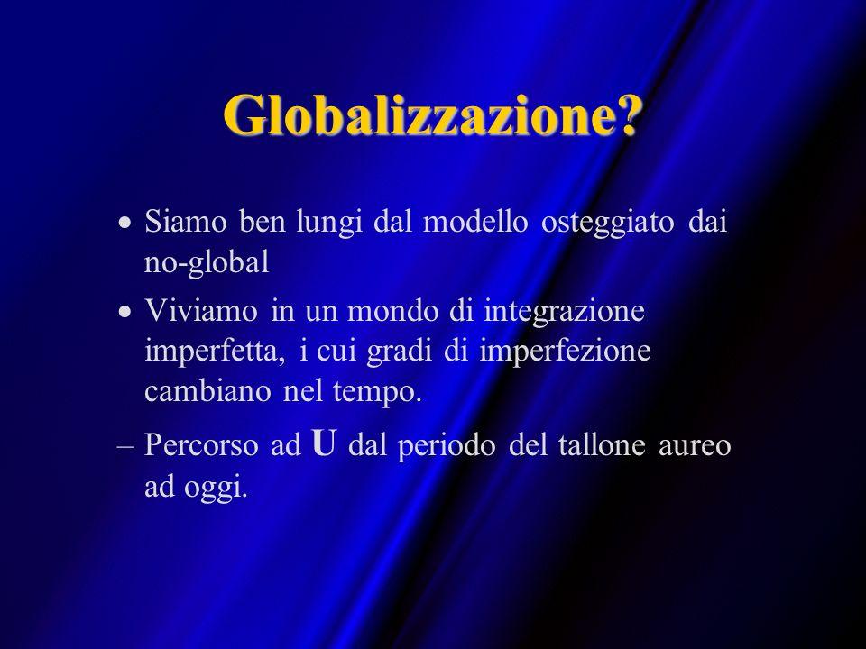 Globalizzazione? Siamo ben lungi dal modello osteggiato dai no-global Viviamo in un mondo di integrazione imperfetta, i cui gradi di imperfezione camb