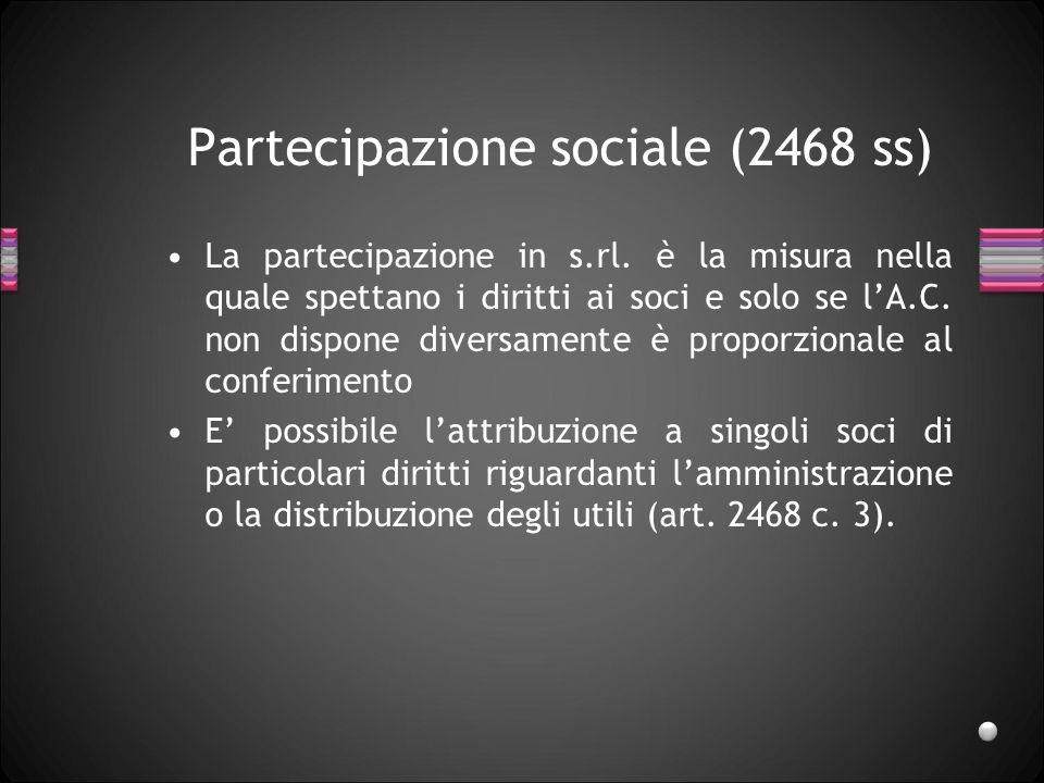 Inadempienza del socio (2466) Inadempienze: –mancato versamento decimi richiamati, –Scadenza/inefficacia garanzie. Procedimento: –diffida, –esecuzione