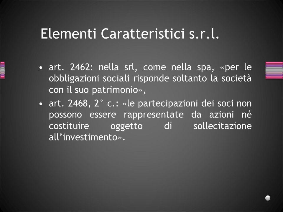 Società a responsabilità limitata Lorenzo Benatti Parma, 10 novembre 2011
