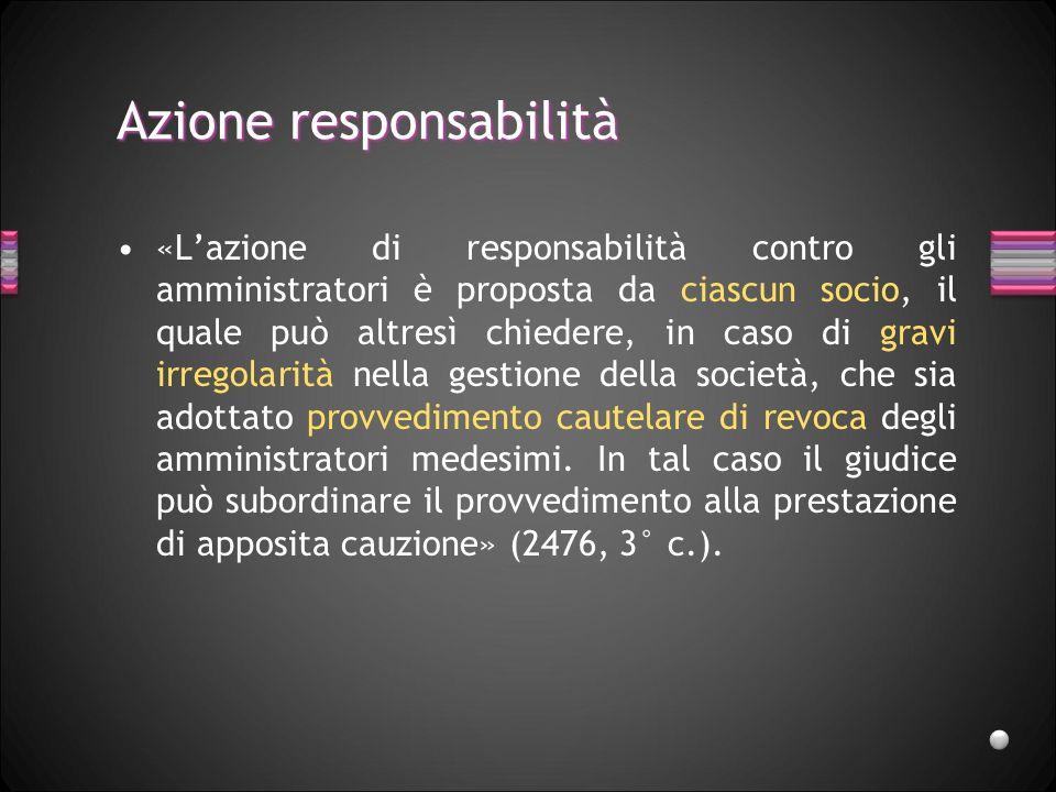 Responsabilità amministratori «Gli amministratori sono solidalmente responsabili verso la società dei danni derivanti dallinosservanza dei doveri ad e