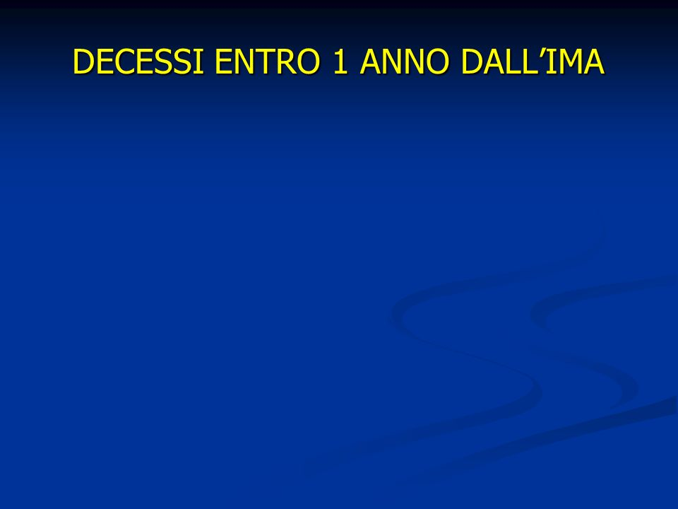 DECESSI ENTRO 1 ANNO DALLIMA