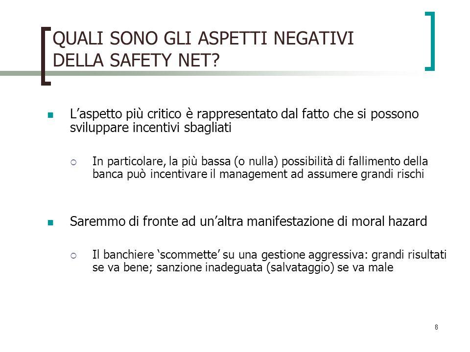 8 QUALI SONO GLI ASPETTI NEGATIVI DELLA SAFETY NET.