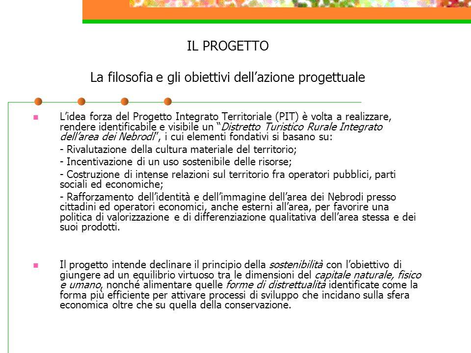 IL PROGETTO La filosofia e gli obiettivi dellazione progettuale Lidea forza del Progetto Integrato Territoriale (PIT) è volta a realizzare, rendere id