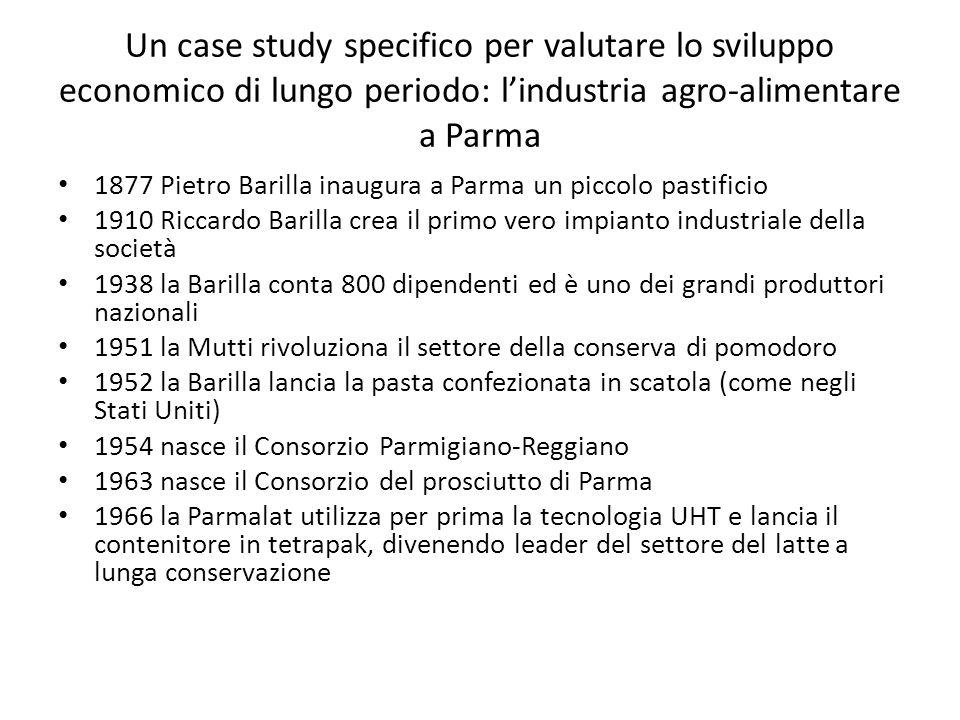 Un case study specifico per valutare lo sviluppo economico di lungo periodo: lindustria agro-alimentare a Parma 1877 Pietro Barilla inaugura a Parma u