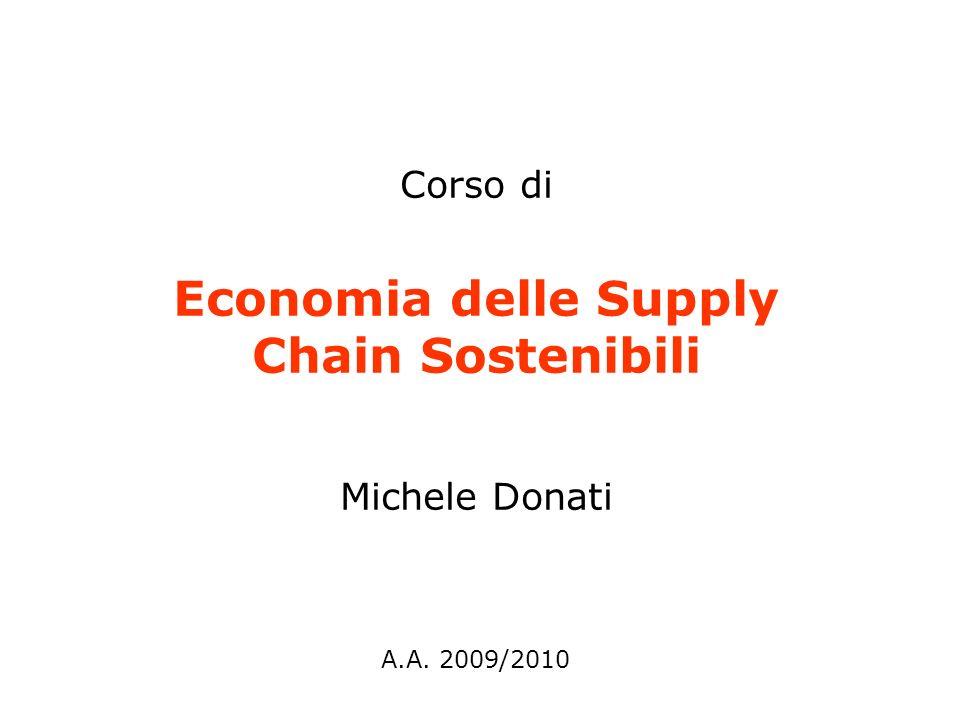 Corso di Economia delle Supply Chain Sostenibili Michele Donati A.A. 2009/2010