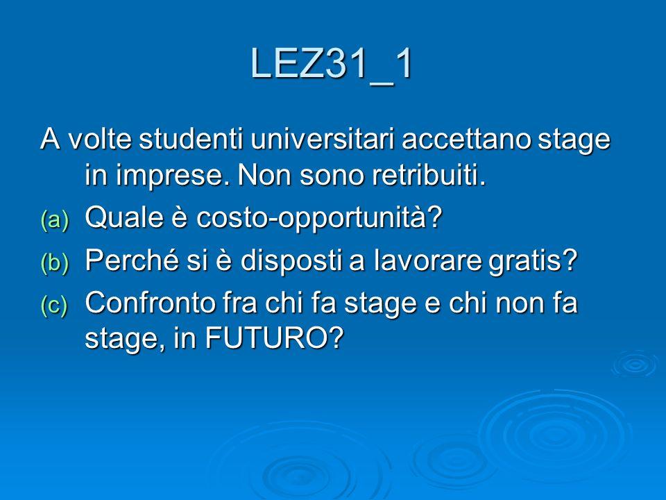 LEZ31_1 A volte studenti universitari accettano stage in imprese.