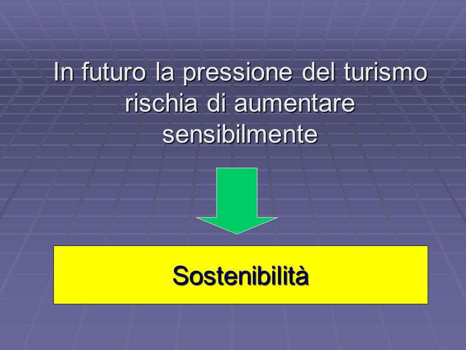 In futuro la pressione del turismo rischia di aumentare sensibilmente Sostenibilità