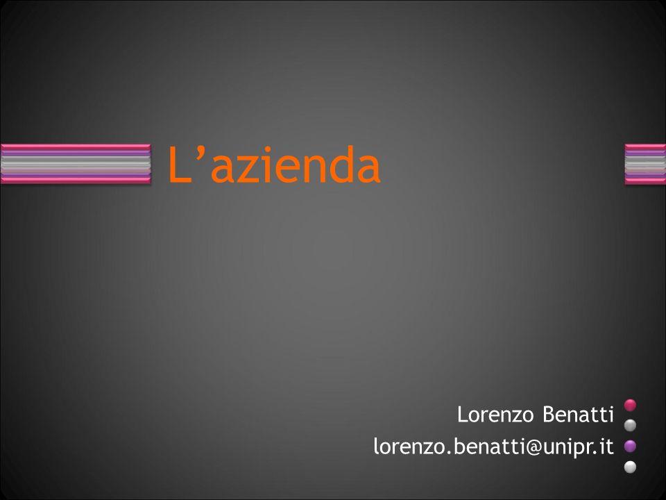 Lazienda Lorenzo Benatti lorenzo.benatti@unipr.it