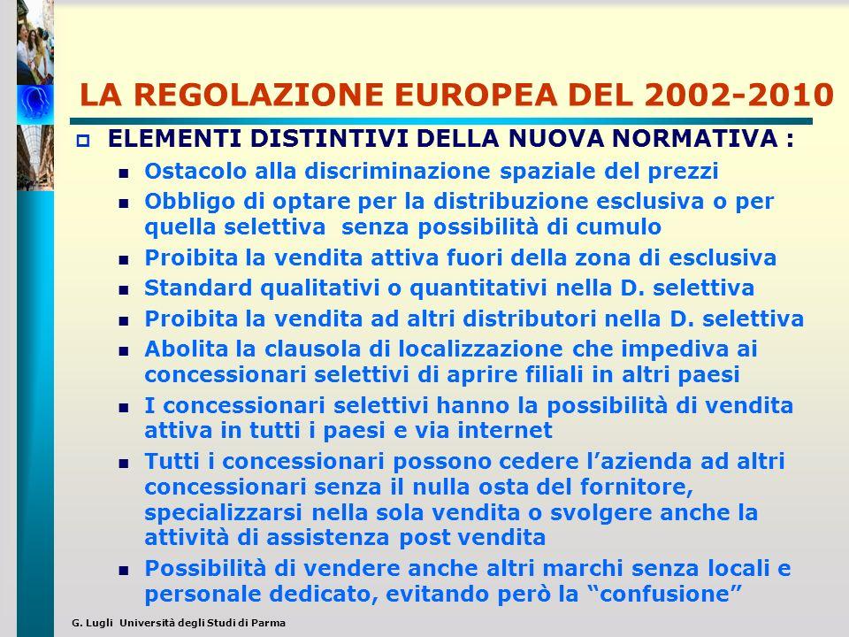 G. Lugli Università degli Studi di Parma LA REGOLAZIONE EUROPEA DEL 2002-2010 ELEMENTI DISTINTIVI DELLA NUOVA NORMATIVA : Ostacolo alla discriminazion