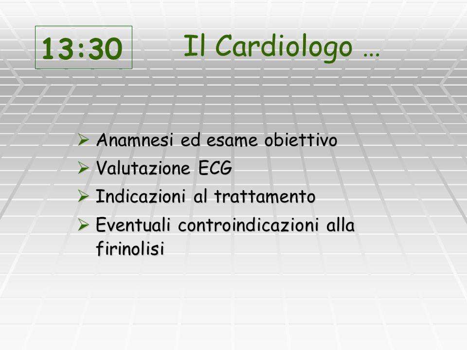 Rivascolarizzazione farmacologica (fibrinolisi) Rivascolarizzazione farmacologica (fibrinolisi) A questo punto che fare.