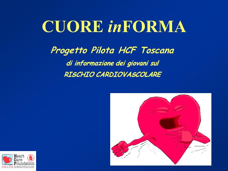 CUORE inFORMA Progetto Pilota HCF Toscana di informazione dei giovani sul RISCHIO CARDIOVASCOLARE