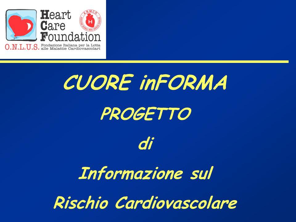 CUORE inFORMA PROGETTO di Informazione sul Rischio Cardiovascolare