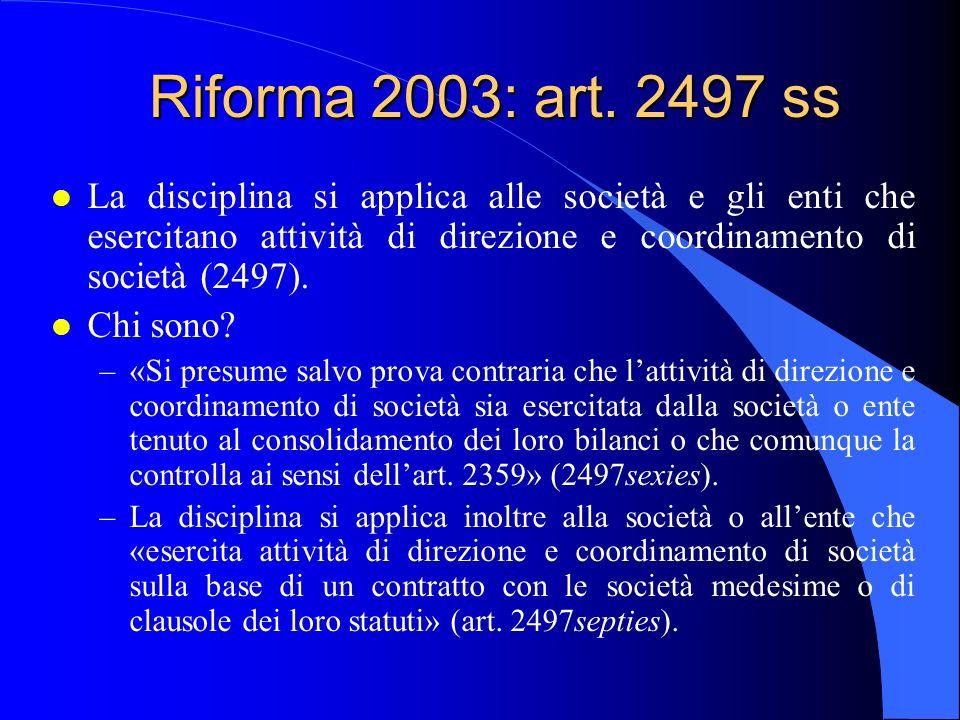 Riforma 2003: art.