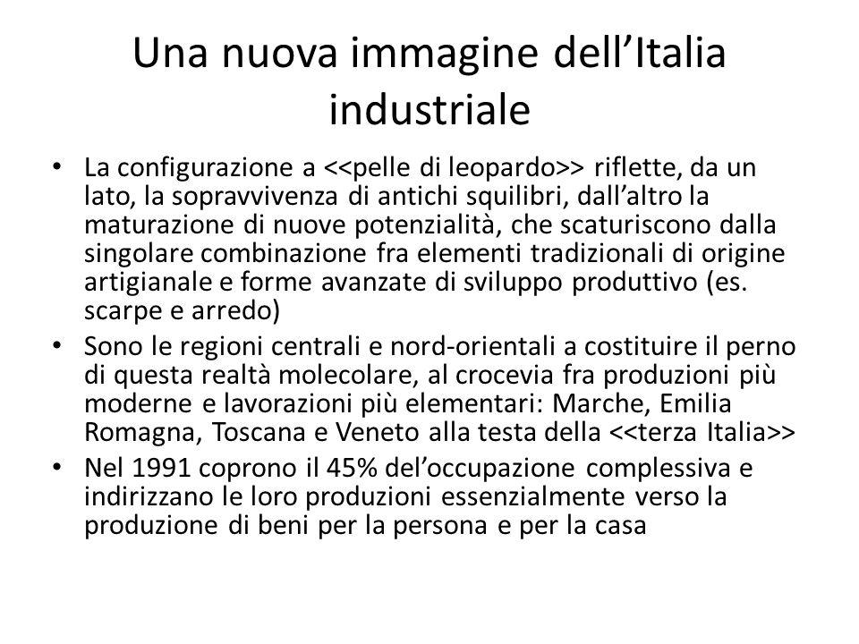 Una nuova immagine dellItalia industriale La configurazione a > riflette, da un lato, la sopravvivenza di antichi squilibri, dallaltro la maturazione