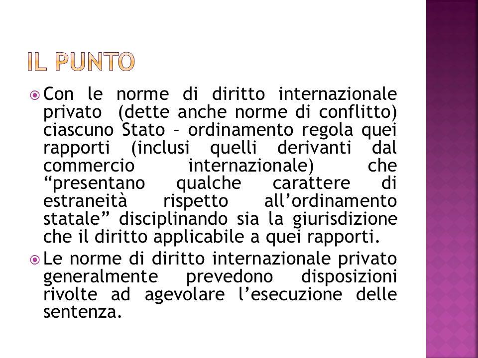 Con le norme di diritto internazionale privato (dette anche norme di conflitto) ciascuno Stato – ordinamento regola quei rapporti (inclusi quelli deri