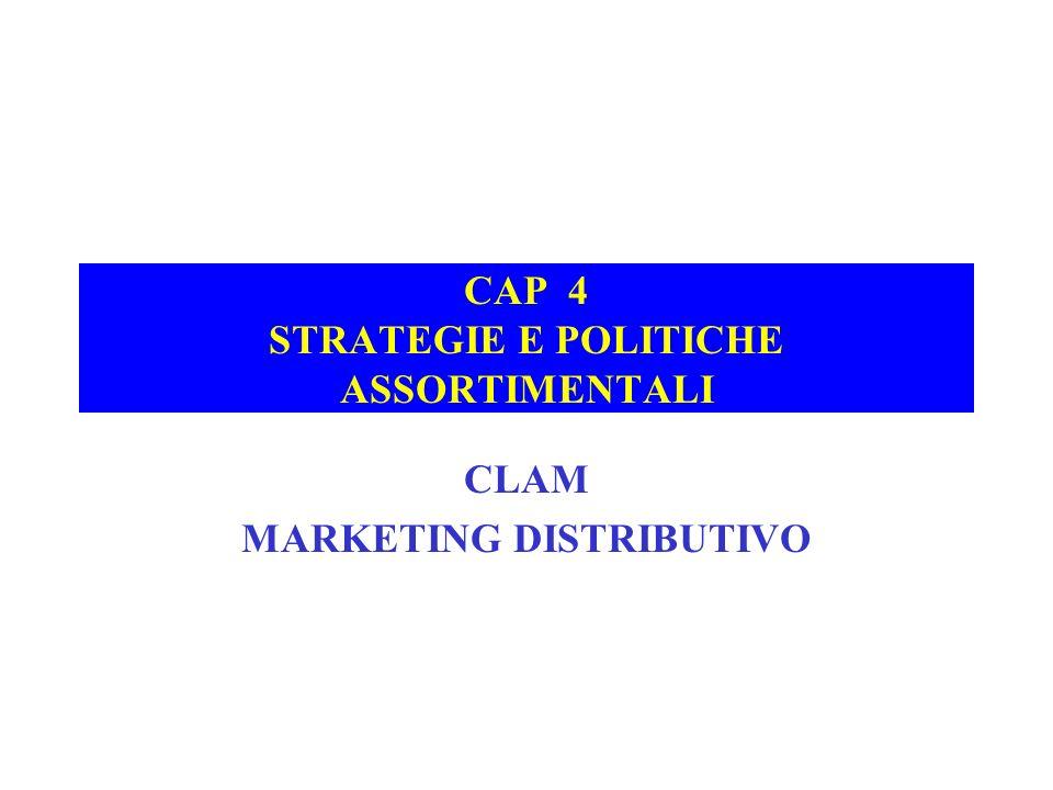 CAP 4 STRATEGIE E POLITICHE ASSORTIMENTALI CLAM MARKETING DISTRIBUTIVO