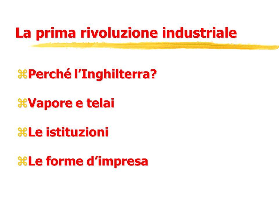 Lindustrializzazione zI primi industriali zI capitani dindustria zI managers zAlla ricerca di un difficile equilibrio