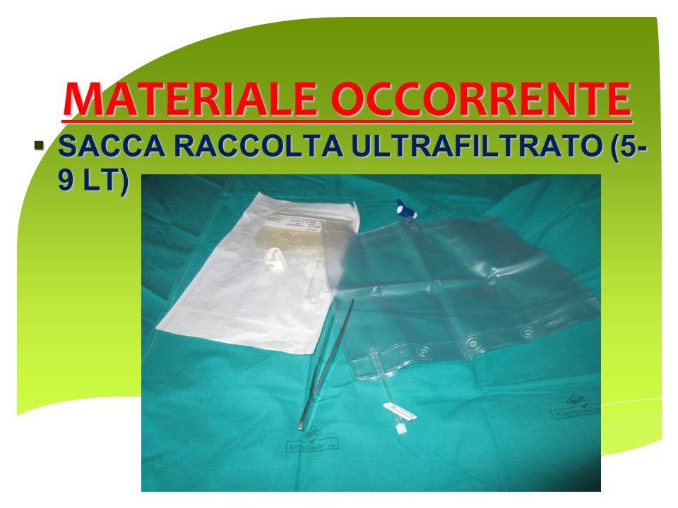 MATERIALE OCCORRENTE SACCA RACCOLTA ULTRAFILTRATO (5- 9 LT) SACCA RACCOLTA ULTRAFILTRATO (5- 9 LT)
