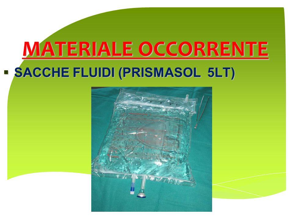 MATERIALE OCCORRENTE SACCHE FLUIDI (PRISMASOL 5LT) SACCHE FLUIDI (PRISMASOL 5LT)