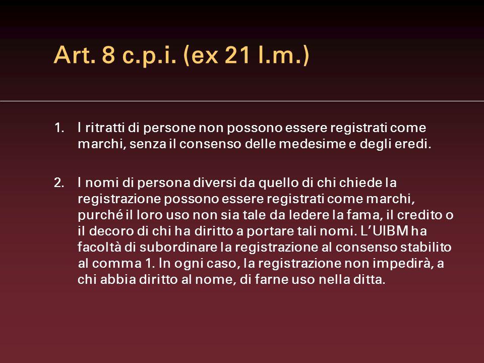 Art.14.1 c.p.i. (ex art. 18 l.m.) 1.