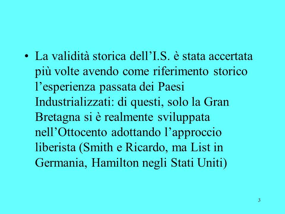 3 La validità storica dellI.S.