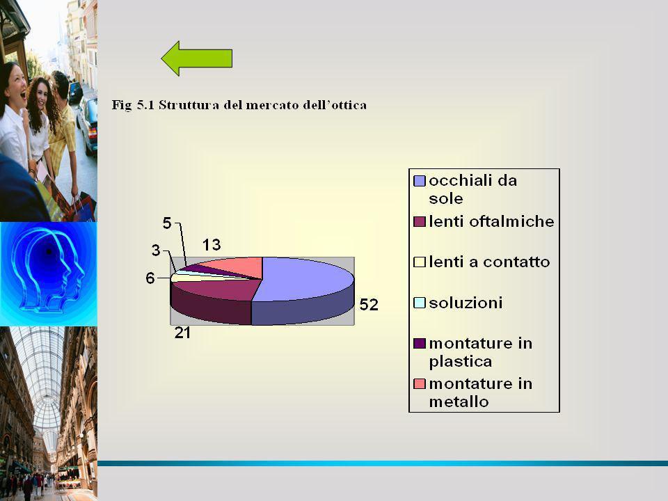 Fig 5.1 Struttura del mercato dellottica