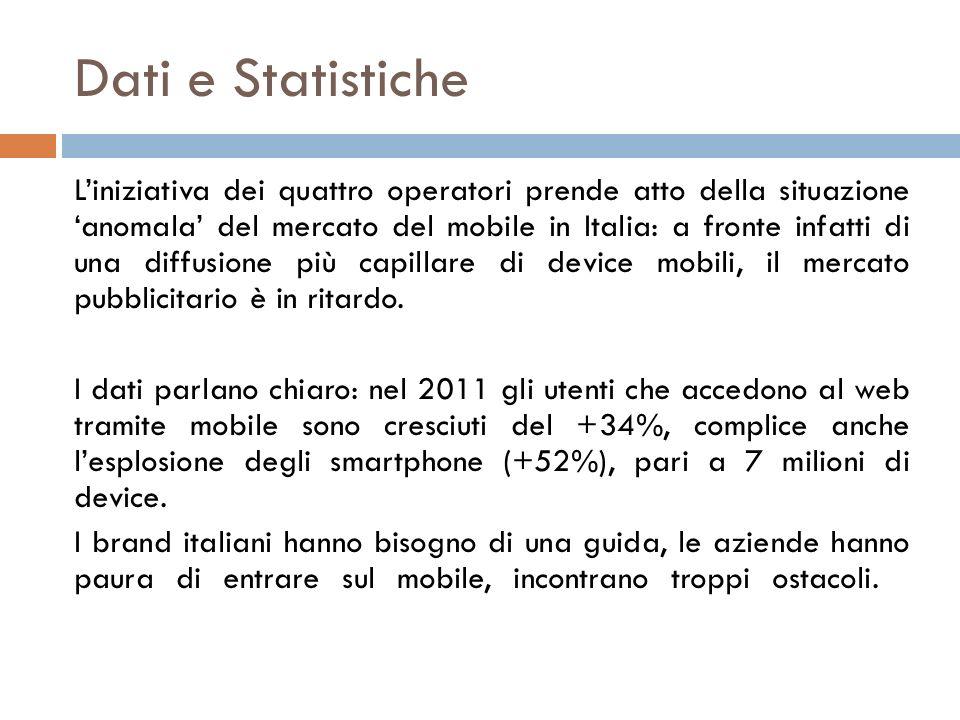 Dati e Statistiche Liniziativa dei quattro operatori prende atto della situazione anomala del mercato del mobile in Italia: a fronte infatti di una di