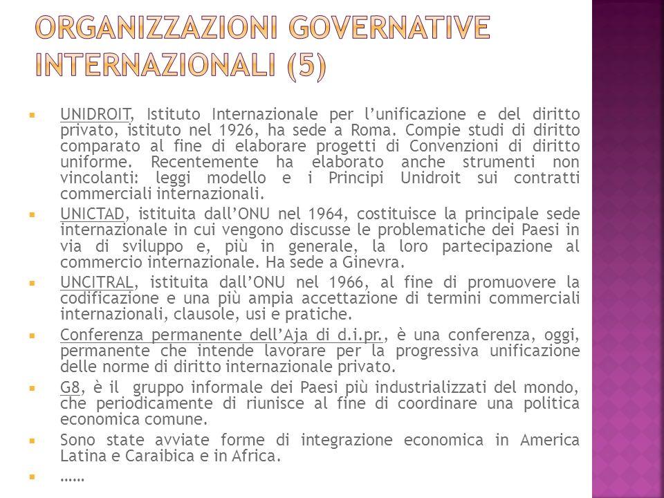 UNIDROIT, Istituto Internazionale per lunificazione e del diritto privato, istituto nel 1926, ha sede a Roma. Compie studi di diritto comparato al fin