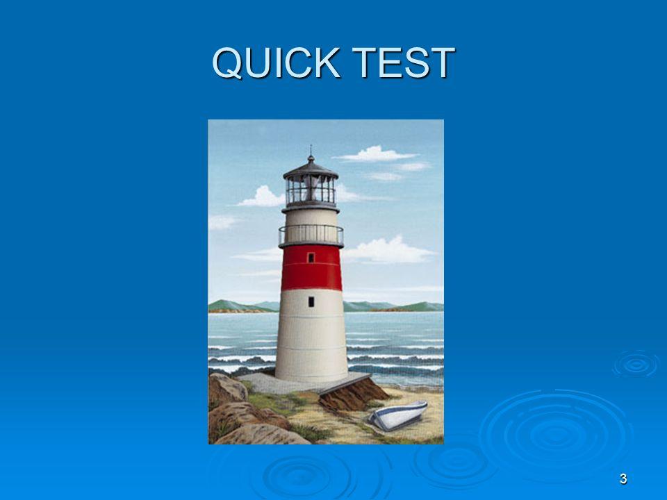 QUICK TEST 3