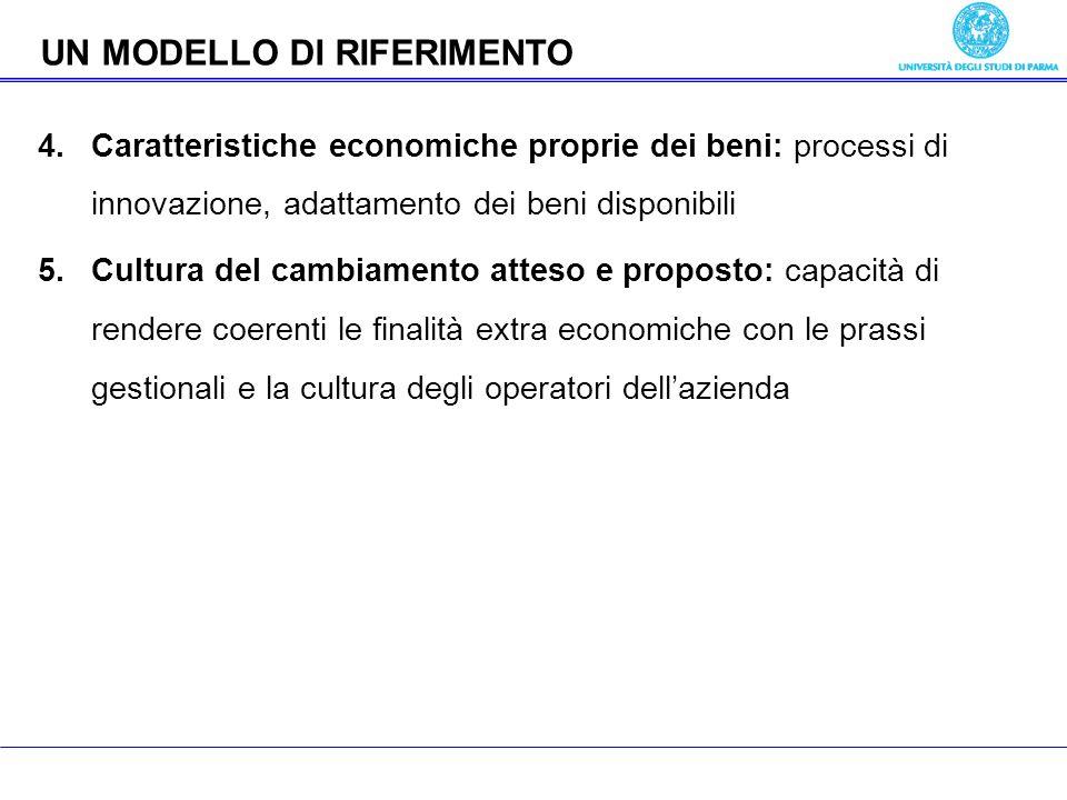 Economia delle aziende pubbliche 4.Caratteristiche economiche proprie dei beni: processi di innovazione, adattamento dei beni disponibili 5.Cultura de
