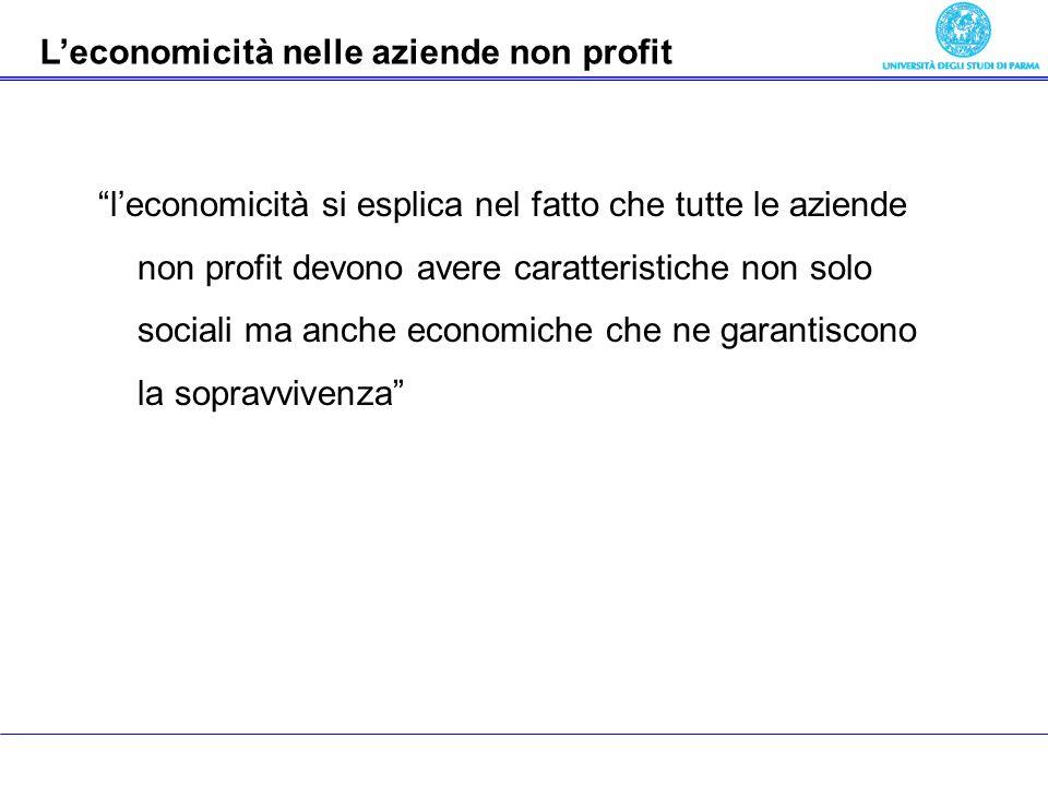 Economia delle aziende pubbliche leconomicità si esplica nel fatto che tutte le aziende non profit devono avere caratteristiche non solo sociali ma an