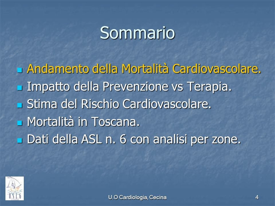 U.O Cardiologia, Cecina5 International CHD Mortality Trends in Men: 1968-2003