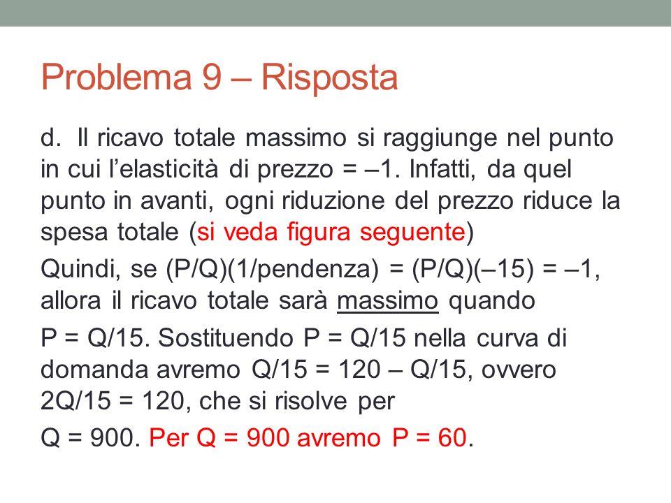 Problema 9 – Risposta d.