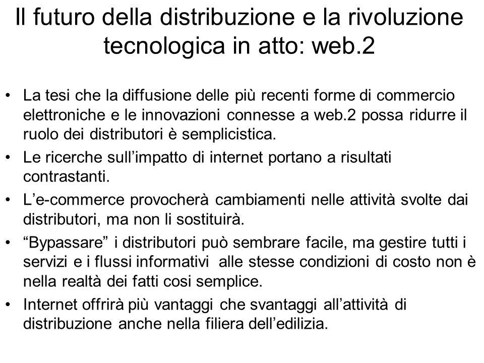 Il futuro della distribuzione e la rivoluzione tecnologica in atto: web.2 La tesi che la diffusione delle più recenti forme di commercio elettroniche