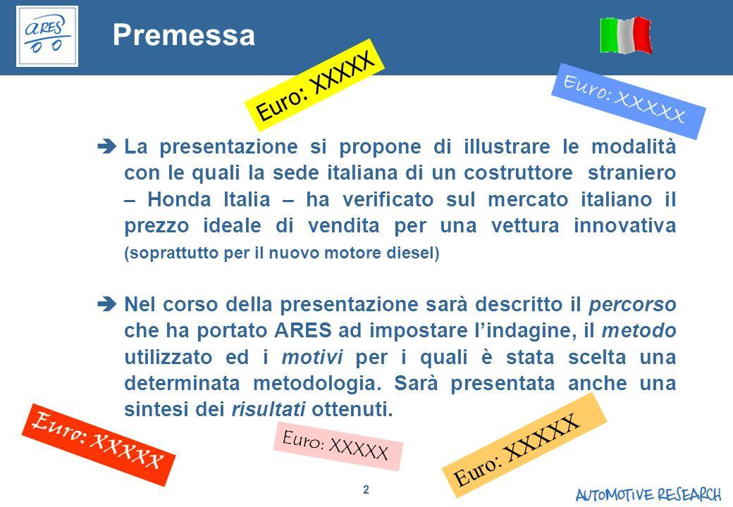 2 Premessa La presentazione si propone di illustrare le modalità con le quali la sede italiana di un costruttore straniero – Honda Italia – ha verific