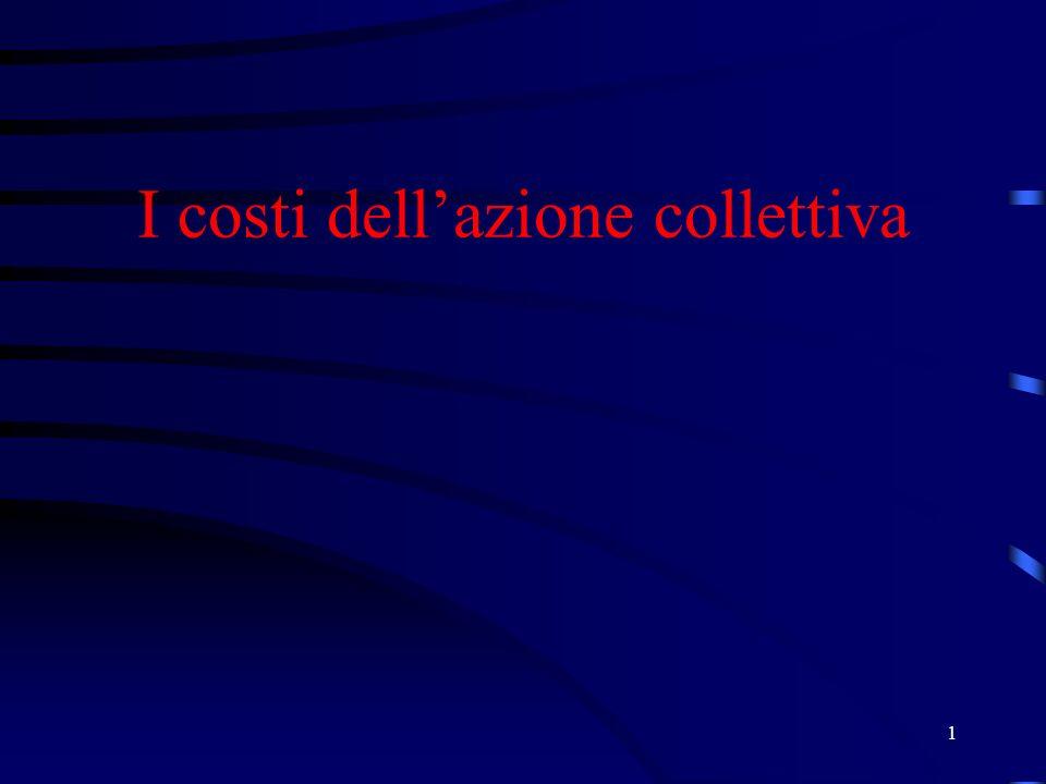 1 I costi dellazione collettiva
