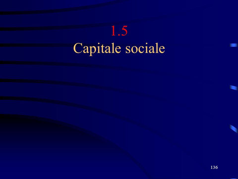136 1.5 Capitale sociale
