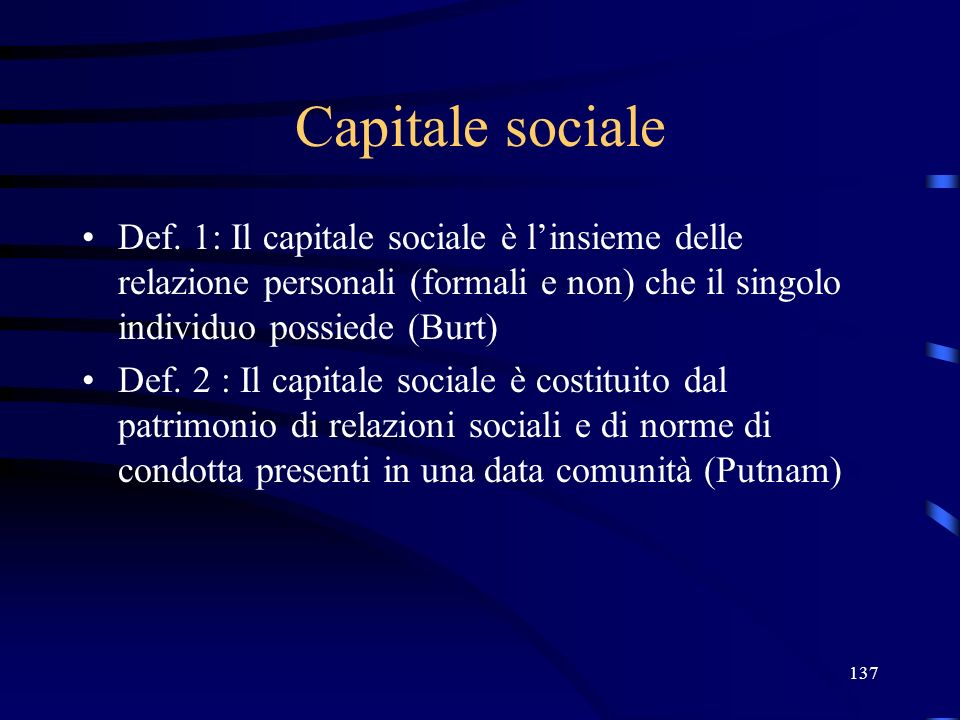 137 Capitale sociale Def.