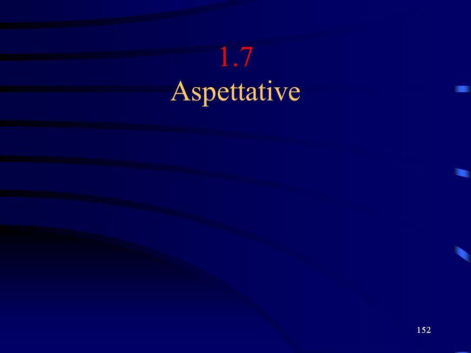 152 1.7 Aspettative