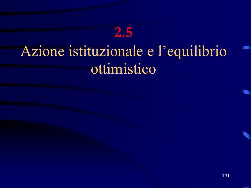 191 2.5 Azione istituzionale e lequilibrio ottimistico