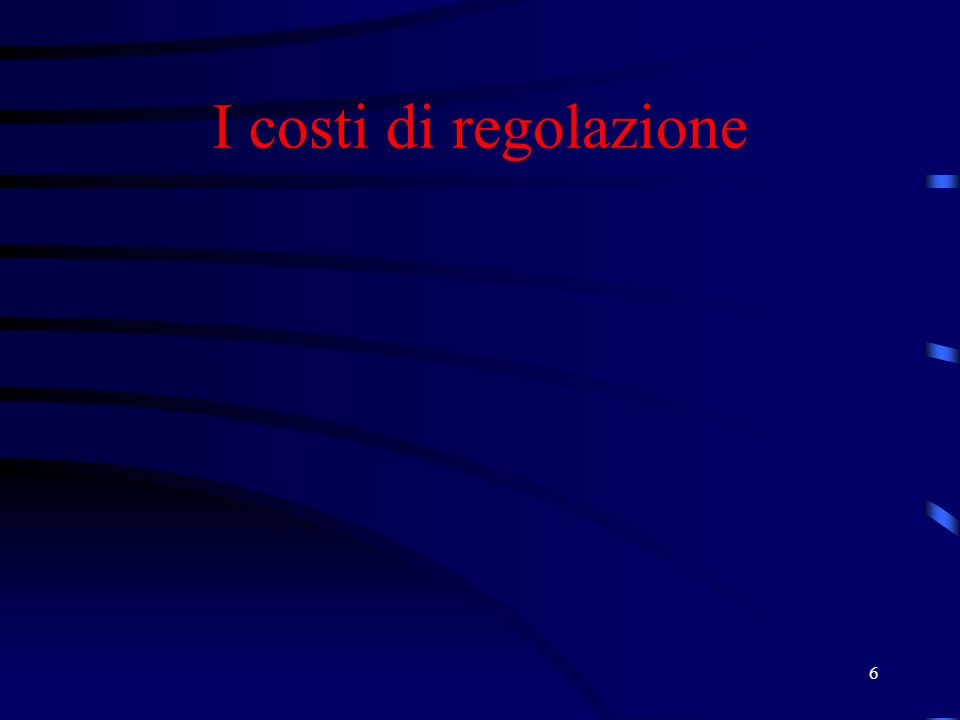 6 I costi di regolazione